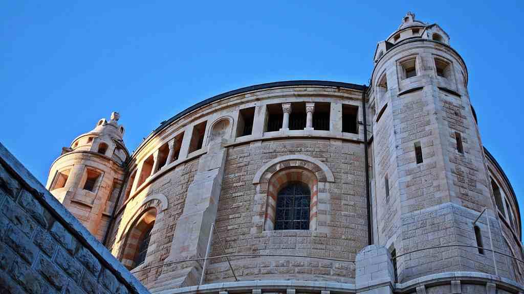 La Abadía de Hagia María en Sion o la Basílica de la dormición es una abadía benedictina en Jerusalén, en Monte Sion cerca de las murallas de la Ciudad Vieja de Jerusalén