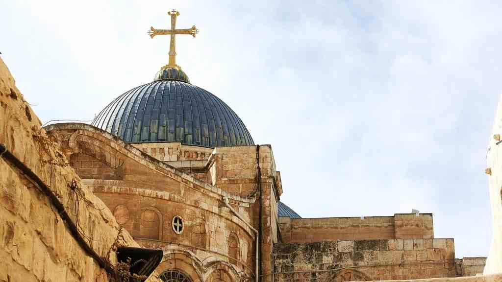 La iglesia del santo sepulcro desde su exterior