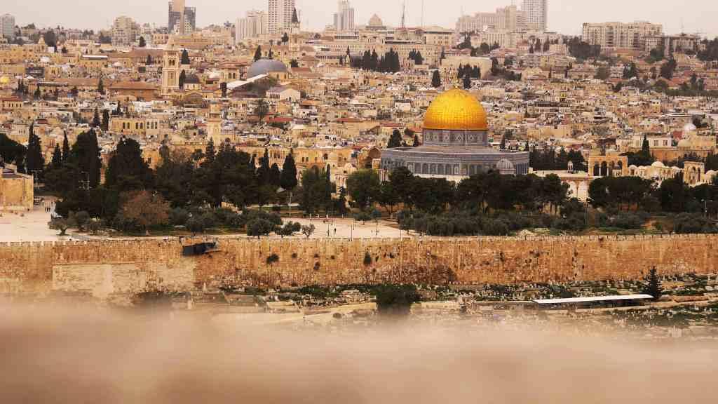 vista panorámica de la ciudad de Jerusalén